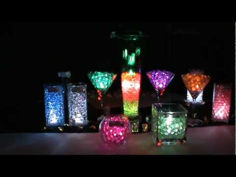 Led Submersible Lights Amp Blyss 174 Water Beads Youtube