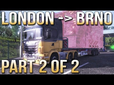 London to Brno Part 2 of 2 - Euro Truck Simulator 2 with Track IR