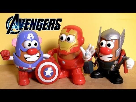 Marvel Mr. Potato Head Captain America THOR Iron Man From Walt Disney Marvel The Avengers toys