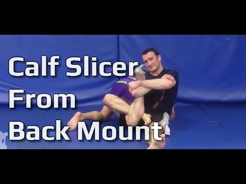 MMA 121 - Submission Technique - Calf Compression (Crusher) From Side / Centre Back Control Image 1