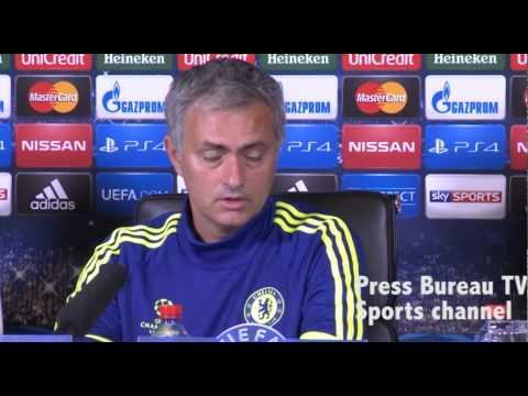 Jose Mourinho pre Chelsea vs FC Schalke
