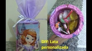 DIY - Personalizando lata de leite - Princesa Sofia