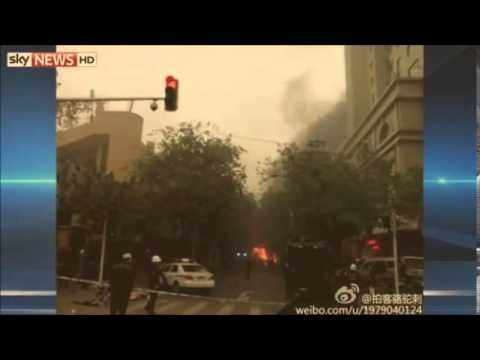 Terrorist blasts rock Chinese open market  31 killed in Urumqi Xinjiang Muslim Uygurs suspected