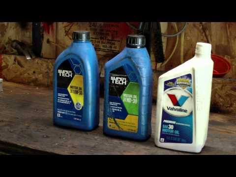 What types of oil to use in small engines (4 stroke motor oils)