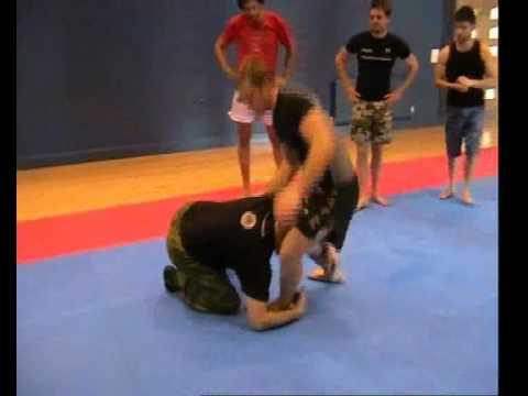 Sambo Techniques - Low Single Leg Takedown Image 1