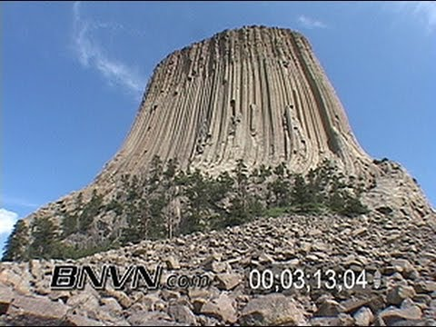 Devils Tower, Wyoming. B-Roll of the nation's first national monument, Devils Tower
