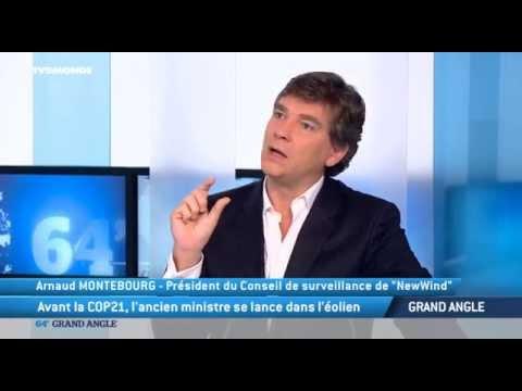 """#64minutes - Arnaud Montebourg : """"L' éolienne domestique a le vent en poupe"""""""