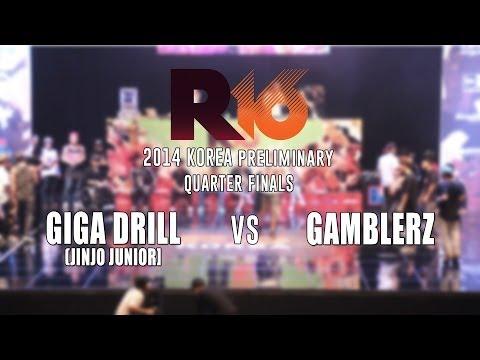 GIGA DRILL v GAMBLERZ  Bboy Crew Quarterfinal  R16 2014 Korea...