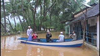 Heavy rain in Uttara Kannada; Affected people revacuated from flooded areas to safety in Valki