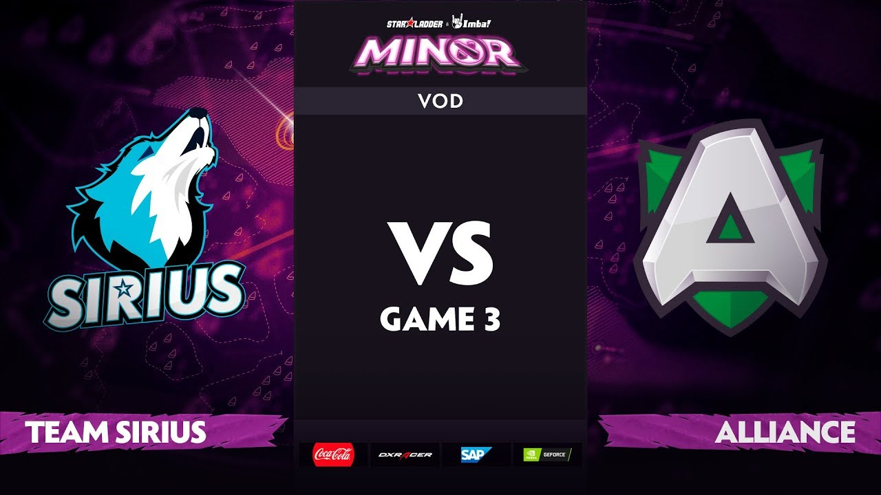 [EN] Team Sirius vs Alliance, Game 3, StarLadder ImbaTV Dota 2 Minor S2, Playoffs