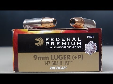 Federal HST 9mm +P 147 gr JHP Ammo Test