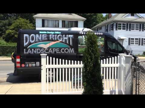 Landscaping Boston, MA  Done Right Landscape 781-858-8000