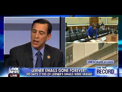 • Darrell Issa • Lost IRS E-mails a Criminal Act • Greta • 6/19/14 •