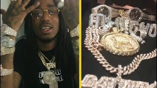 Quavo Migos Shows Off His CRAZY Jewelry!