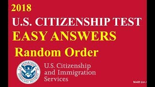 2018 Easy Answer Citizenship Questions Practice!