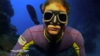 Pelizzari and Pipin, free diving together in 1991