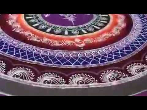 Sanskar Bharati Rangoli Designs - YouTube