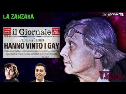 Delirium show di Sgarbi, che insulta gay e Antonio Ingroia (La Zanzara, 14/03/'12)