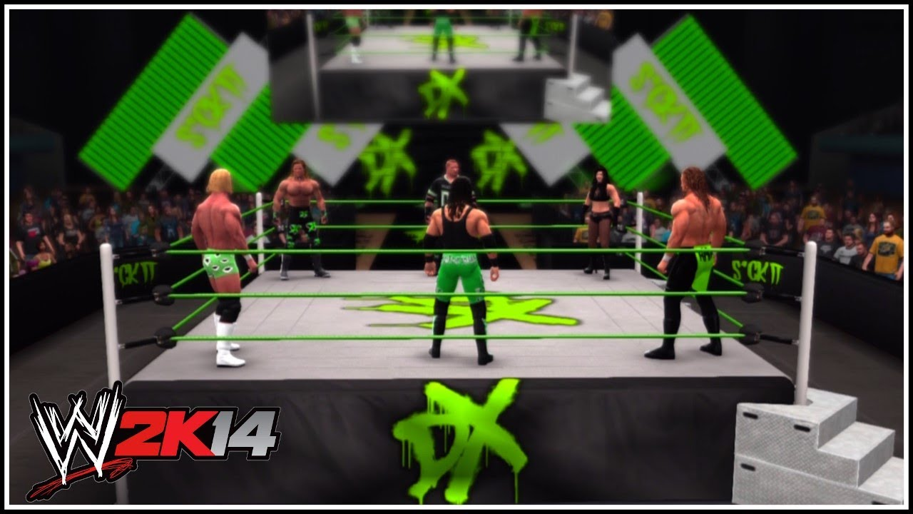 ... Man (Well, 5 Man & 1 Woman!) Battle Royal In The DX Arena! - YouTube