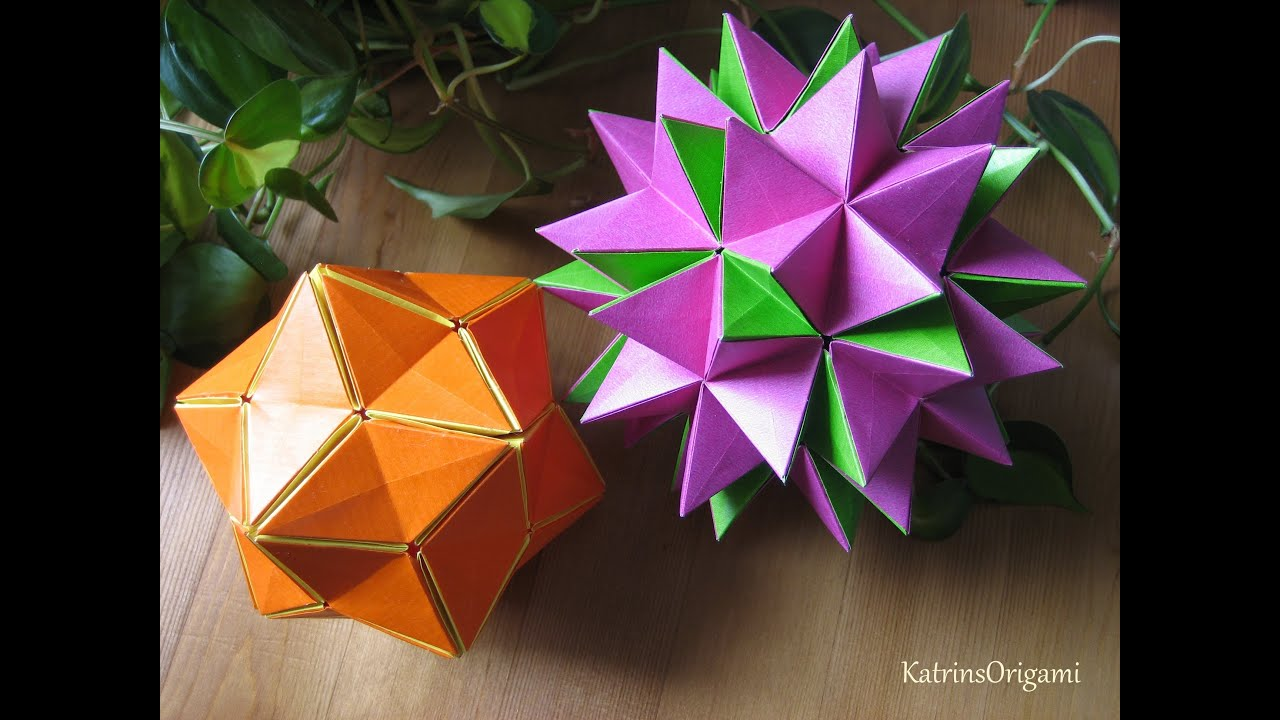 How To Make An Origami Kusudama Flower Ball Psychologyarticlesfo