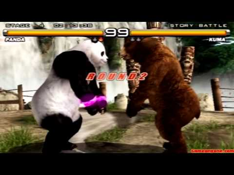 Tekken 5 - Story Battle - Panda Playthrough video