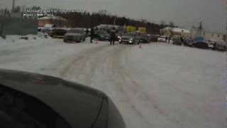 Kia Soul ice driving
