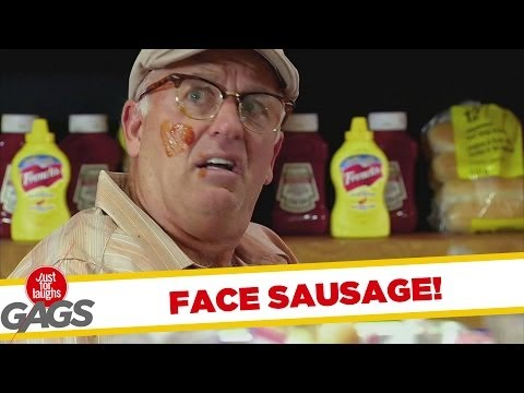 SAUSAGE IN THE FACE PRANK