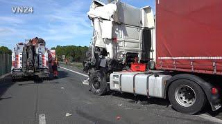 13.05.2019 - VN24 - Teil2 - Bergungsarbeiten nach tödlichem LKW Unfall auf A2 bei Kamen