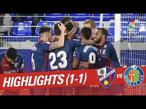 Resumen de SD Huesca vs Getafe CF (1-1)