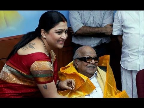DMK's succession war: Khushboo could succeed Karunanidhi