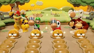 Super Mario Party - Challenge Road - Chestnut Forest All Minigames - Unlock Diddy Kong