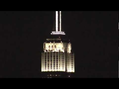 Empire State Building New LED Light Show - Alicia Keys - Hoboken / NYC