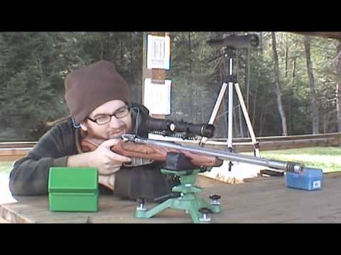 custom mosin nagant scout rife at the range