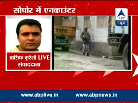 Encounter in Sopore l Army supects Lashkar militants holed up in house
