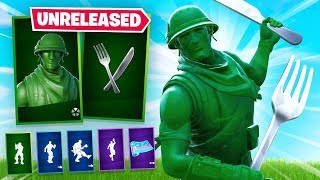 Playing Fortnite with UNRELEASED SKINS (Exclusive)