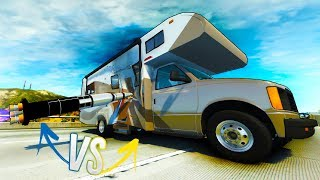 Model Rocket vs A Motor Home - Tesla Supercar? -  New Amazing Mods In BeamNG Drive