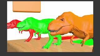 Learn Colors With Dinosaurs and Learn Shapes With Animals   Race Water Slide Animals for Kids TV