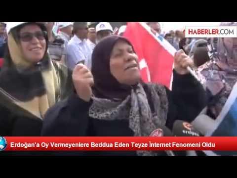 Erdoğan'a Oy Vermeyenlere Beddua Eden Teyze İnternet Fenomeni Oldu