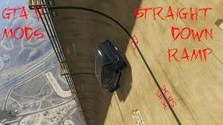 GTA V mod straight down ramp extremely difficult