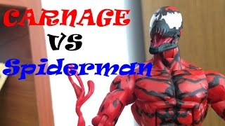 Человек паук против Карнажа!   /Spiderman vs Carnage part 1( stopmotion animation figures)