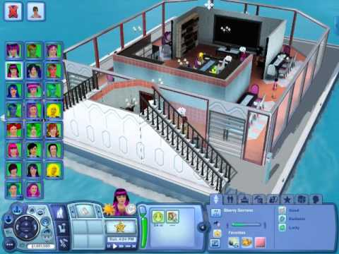 The Sims 3 family of 25 houseboat and rowing boats