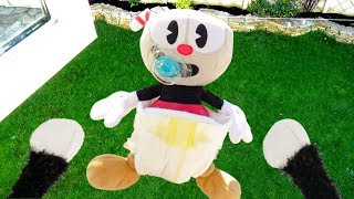Cuphead Plush - Baby Cuphead Thrown Out The Window