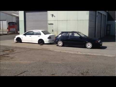 evo vs gtr tug of war