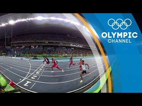 Men's 100m and Men's 400m Final   Exclusive 360 Video   Rio 2016