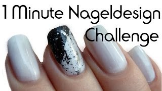 "[Challenge] Naildesign in 1 Minute! ""Black & White"""