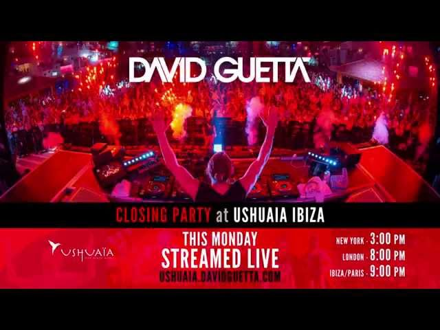 #GuettaCollege Closing Party STREAMED LIVE from Ushuaïa Ibiza