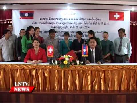Lao NEWS on LNTV: The Gov of Switzerland to increase its financial support on census.31/10/2014