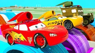 Learn Colors with Lightning Mcqueen becomes Rocket Car, Street Parking Vehilce for Kids