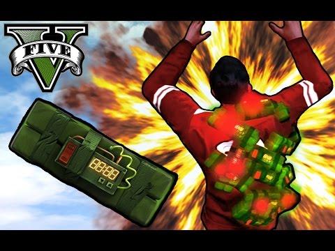 GTA V Online - EL HOMBRE BOMBA!! XDD - NexxuzHD