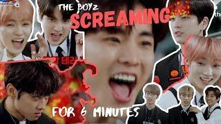 The Boyz screaming for 6 minutes I THE BOYZ SCHOOL DECIBEL GAME CUT (ENG SUB)